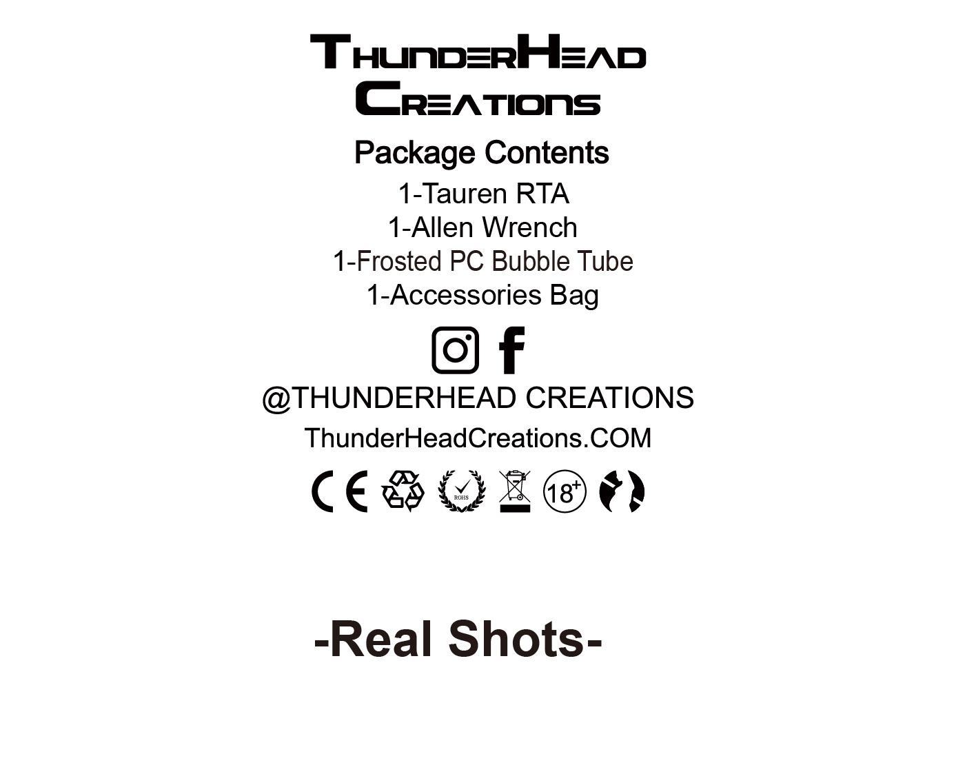 a6265e808006fb558021fb5a5578044b Thunder Head Creations Tauren RTA 2ml / 4.5ml Xsmokers